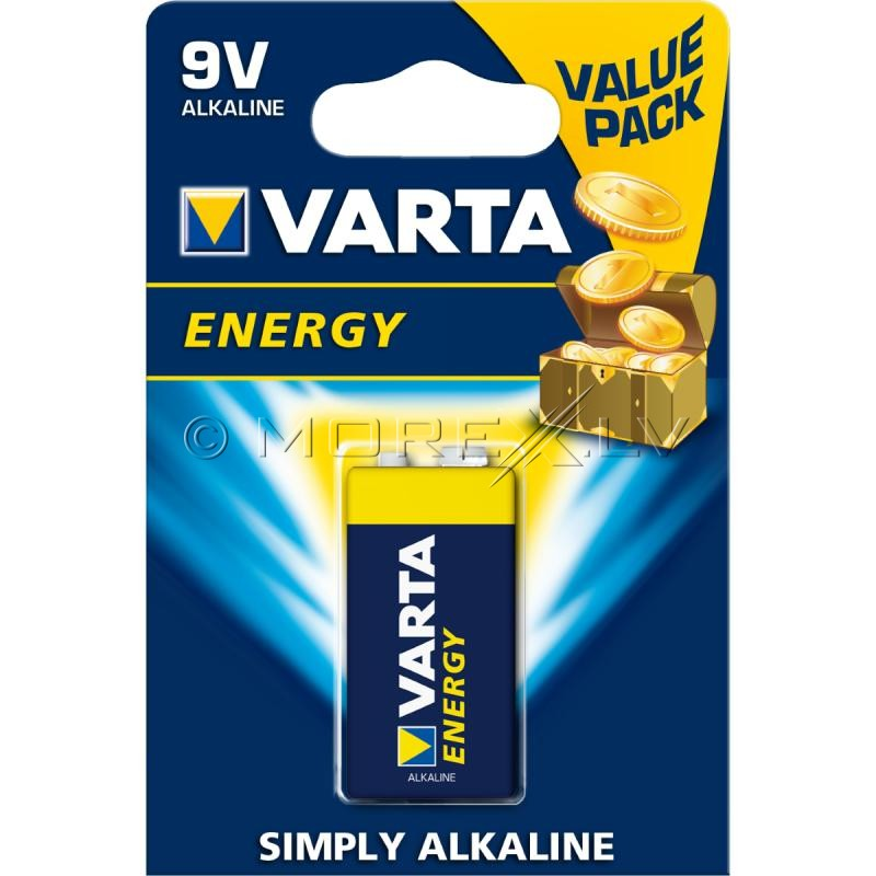 VARTA ENERGY 9V Simply Alkaline Battery