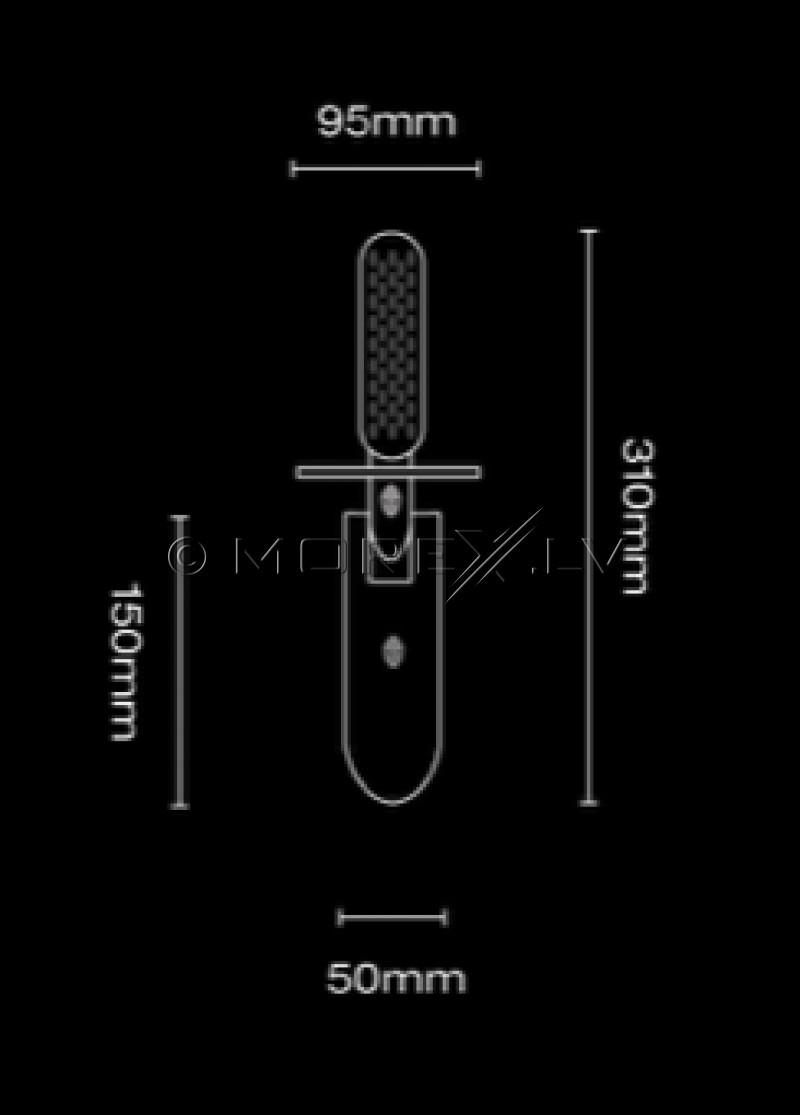 Speciālā lāpsta Black Ada Stainless Steel Dagger (BL001ST) monētu un dārgumu meklēšanai