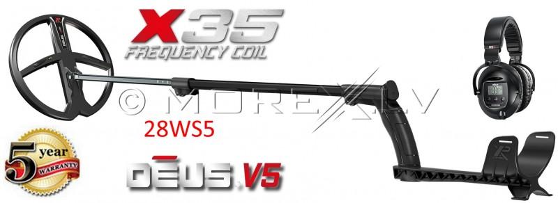XP Deus 28 metāla detektors ar X35 28 cm spoli un WS5 austiņām (ENG)