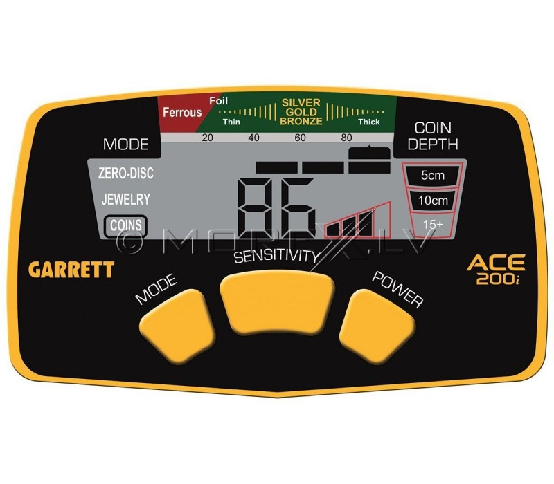 Metal Detector Garrett ACE 200i + GIFTS