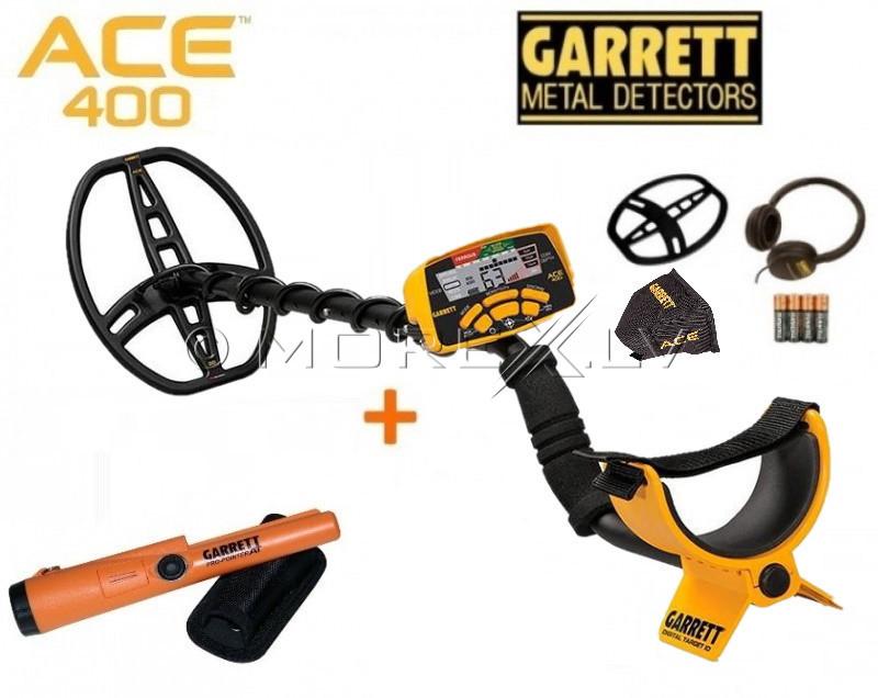 Metāldetektors Garrett ACE 400i + Garrett Pro-Pointer AT + DĀVANAS