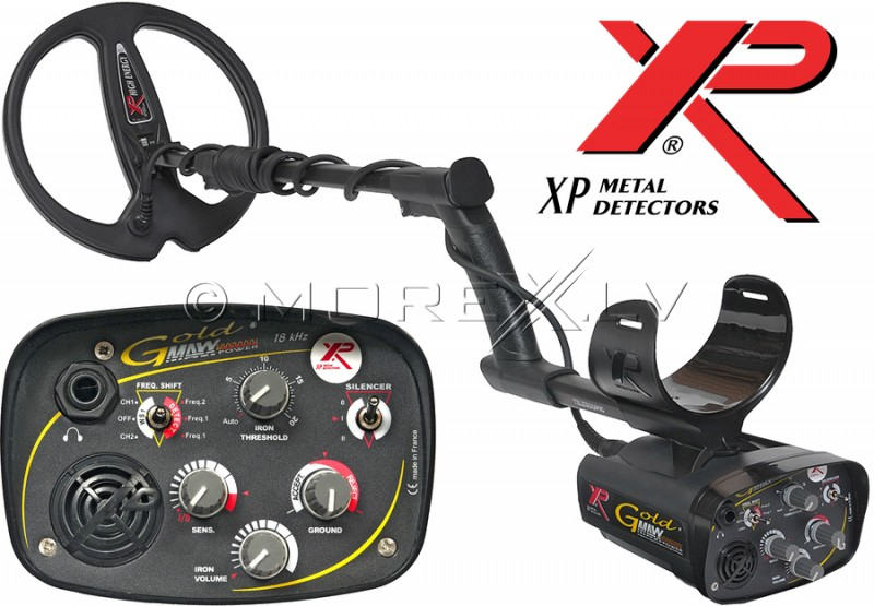 Metal detector XP Goldmaxx V.4 with 22,5cm DD coil (GOLDPOWER)