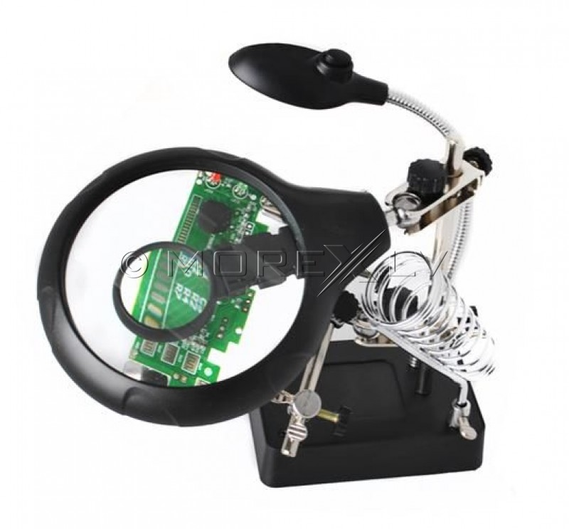 Magnifier for soldering with holders, third hand magnifying glass (00001912)