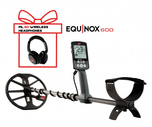 Metal Detector Minelab Equinox 600 + Minelab Equinox Wireless Headphones