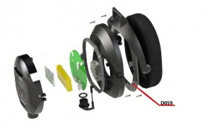 WS5 Plastic Support For Earcup Foam (D059)