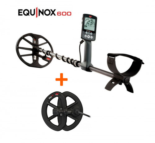 "Minelab Equinox 600 Metal Detector+Waterproof Search Coil 6"" Equinox"