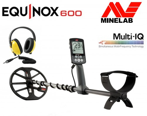 Minelab Equinox 600 Metal Detector + Waterproof Headphones